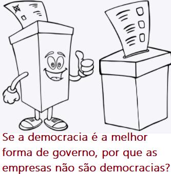Se a democracia é a melhor forma de governo, por que as empresas não são democracias?